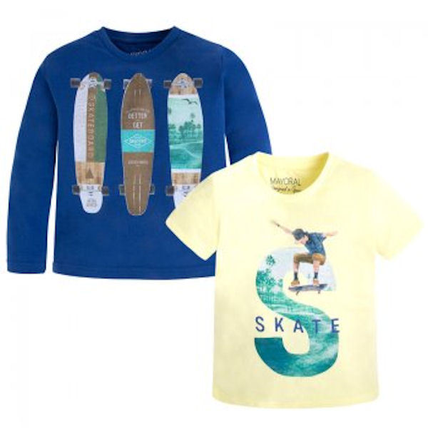Mayoral,Jungen Langarmshirt+T-Shirt set ,Art.3049, Blau